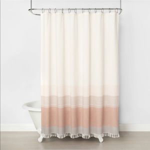 Hearth & hand ombré colorblock shower curtain